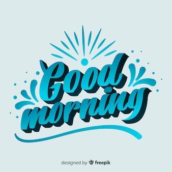 Kreatywne dzień dobry napis ilustracja