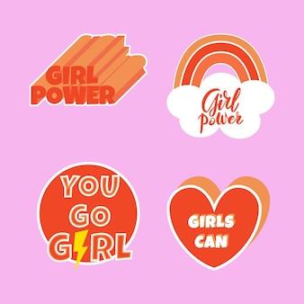 Kreatywne Etykiety Na Międzynarodowy Dzień Kobiet Darmowych Wektorów