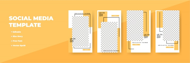 Kreatywne historie sieci społecznościowych, pionowy baner