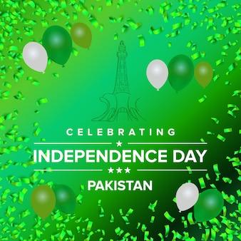 Kreatywne ilustracji na dzień niepodległości pakistanu
