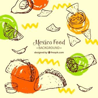 Kreatywne jedzenie meksykańskie tło