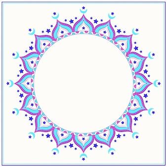 Kreatywne kolorowanie mandali islamskiej
