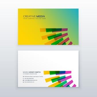 Kreatywne kolorowe wizytówki szablonu wizytówki