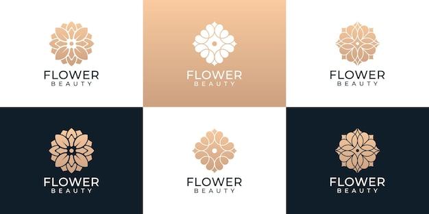 Kreatywne kwiatowy piękno organiczne logo wektor kolekcja