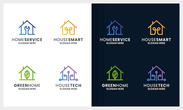 Kreatywne logo domu kolorowy i nowoczesny dom