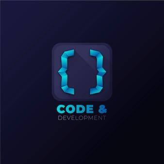 Kreatywne Logo Kodu Gradientu Darmowych Wektorów