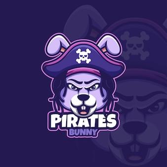 Kreatywne logo maskotki piratów z kreskówek