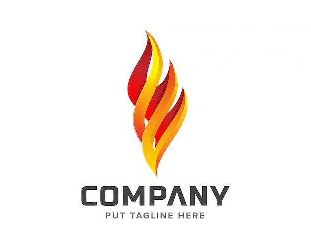 Kreatywne logo ognia