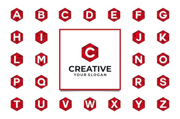 Kreatywne logo początkowy alfabet z pojęciem diamentu