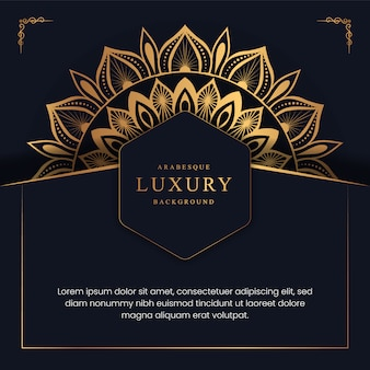 Kreatywne luksusowe tło mandali