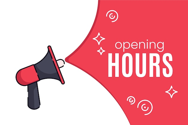 Kreatywne mieszkanie nowy znak godzin otwarcia