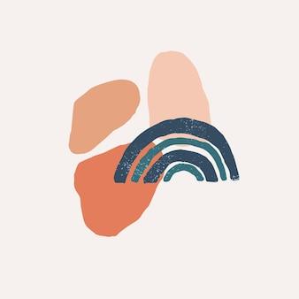 Kreatywne minimalistyczne ręcznie malowane ilustracje do dekoracji ścian nowoczesna sztuka abstrakcyjna
