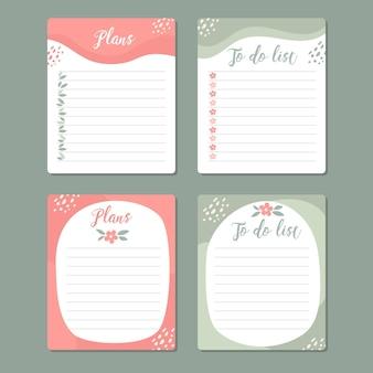 Kreatywne notatki i karty w notatniku