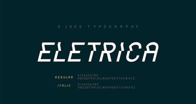 Kreatywne nowoczesne miejskie czcionki alfabetu typografia sportowa gra technologia moda cyfrowe logo