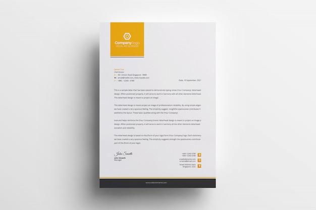 Kreatywne papier firmowy szablon wektor