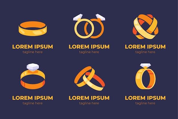 Kreatywne płaska konstrukcja pierścienia szablony logo