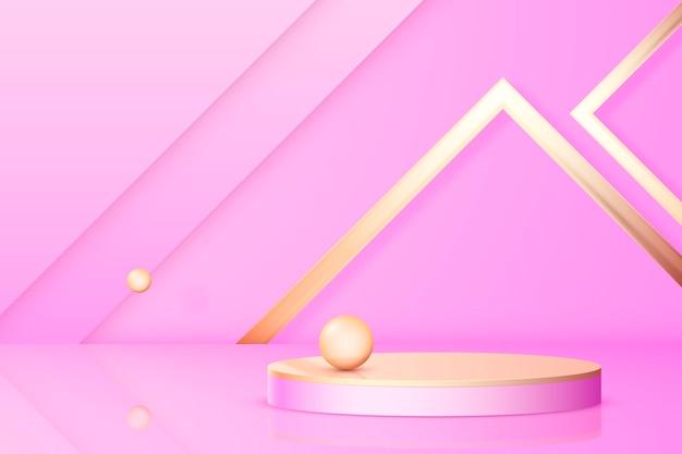 Kreatywne podium w kształcie 3d