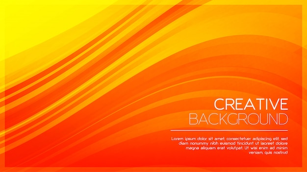 Kreatywne pomarańczowe tło