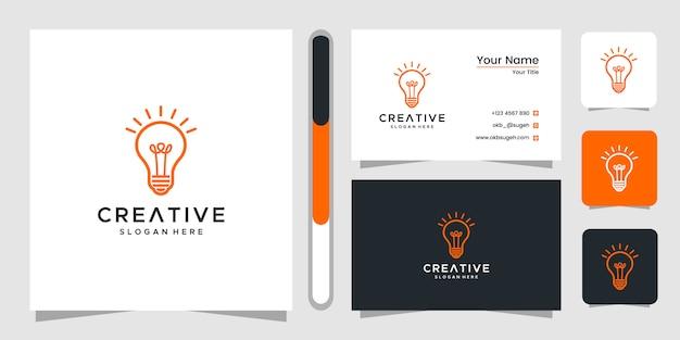 Kreatywne projektowanie logo i wizytówki z żarówką