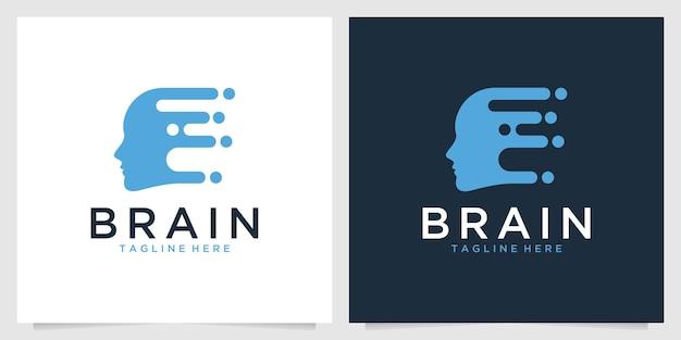 Kreatywne projektowanie logo mózgu