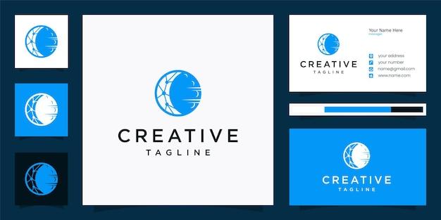 Kreatywne projektowanie logo technologii księżyca