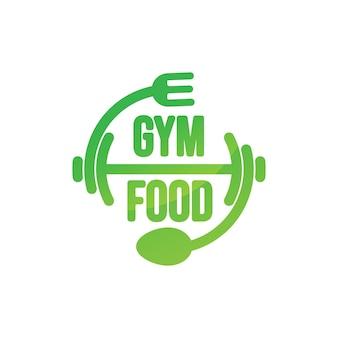 Kreatywne projektowanie logo zdrowej żywności na siłowni