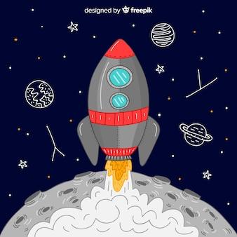 Kreatywne rakieta tła