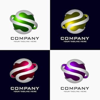 Kreatywne streszczenie 3d kula wektor logo szablon projektu elementu.