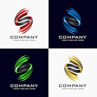 Kreatywne streszczenie początkowej litery s wektor logo szablon element projektu.