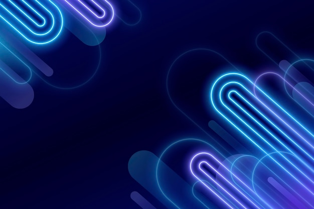 Kreatywne świecące neonowe tło