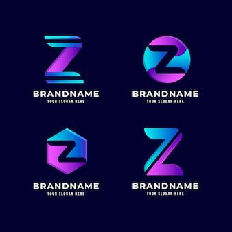 Kreatywne szablony logo litery z