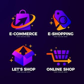 Kreatywne szablony logo sklepu internetowego