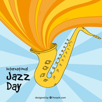 Kreatywne tle saksofon