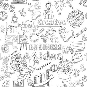 Kreatywne tło bez szwu