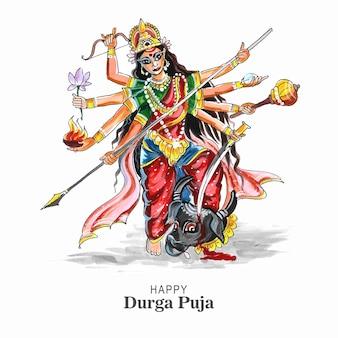 Kreatywne tło karty festiwalu durga puja