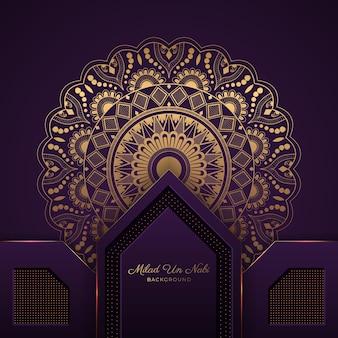 Kreatywne tło mandali na festiwal islamski