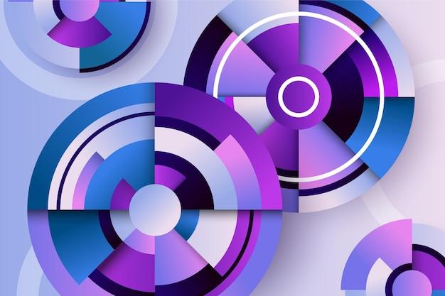 Kreatywne tło z gradientowymi kształtami geometrycznymi
