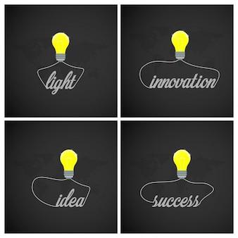 Kreatywne żarówka pomysł z typografii innowacji