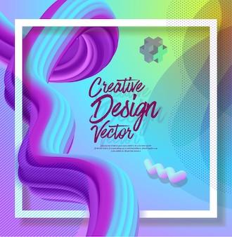 Kreatywnie 3d przepływu projekta abstrakta plakatowy tło