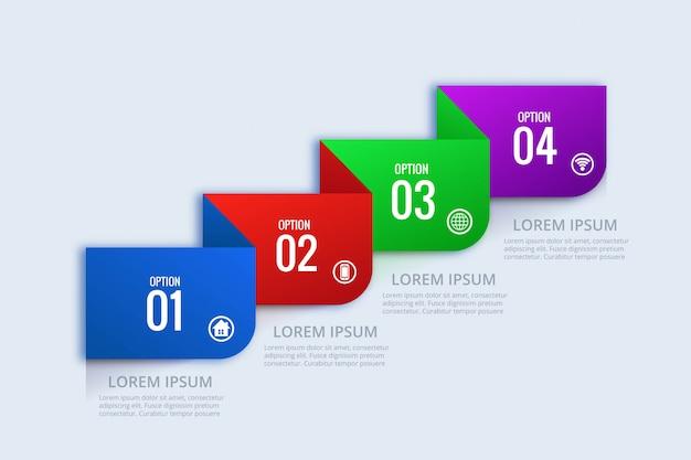 Kreatywnie biznesowy infographic pojęcie sieci sztandaru projekt
