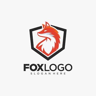 Kreatywnie fox zwierzęca nowożytna prosta projekt ilustracja