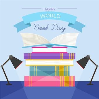 Kreatywnie ilustracja światowy dzień książki