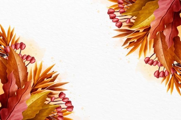 Kreatywnie jesieni tło z biel przestrzenią