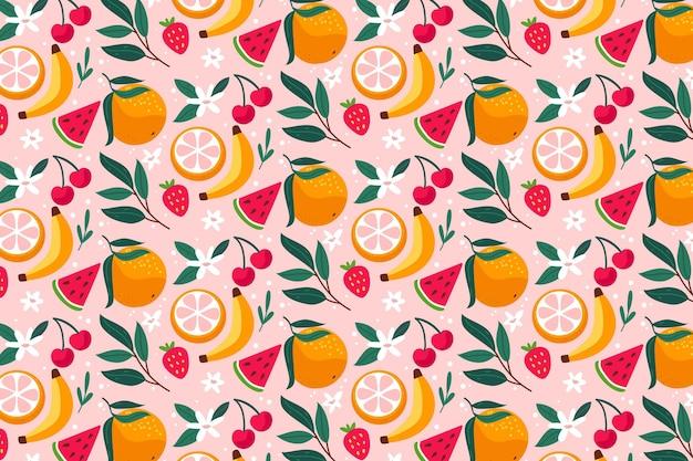 Kreatywnie kolorowy owocowy deseniowy tło