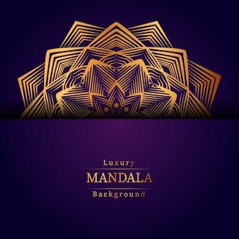 Kreatywnie luksusowa mandala z złotym