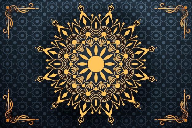 Kreatywnie luksusowy mandala arabeskowy tło
