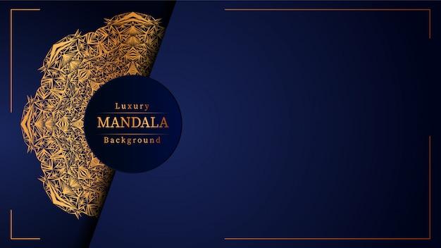 Kreatywnie luksusowy mandala błękita tło