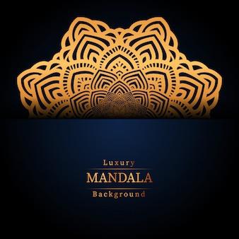 Kreatywnie luksusowy mandala tło z złotą arabeską