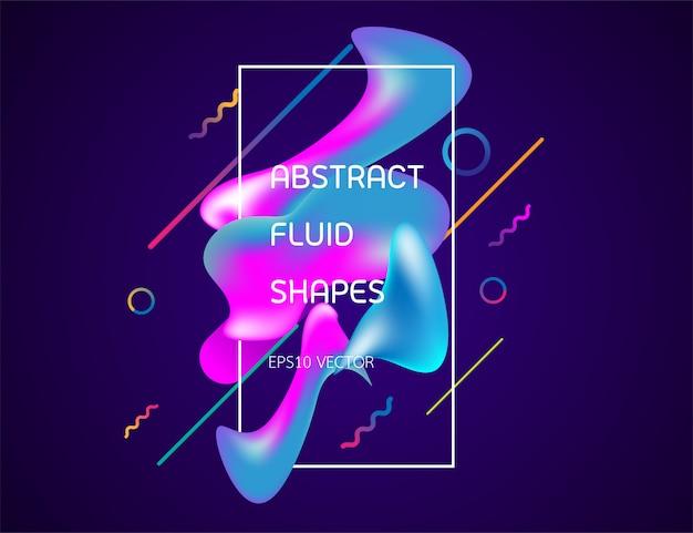 Kreatywnie minimalny geometryczny płynny kształt z purpurowym ciemnym tłem.