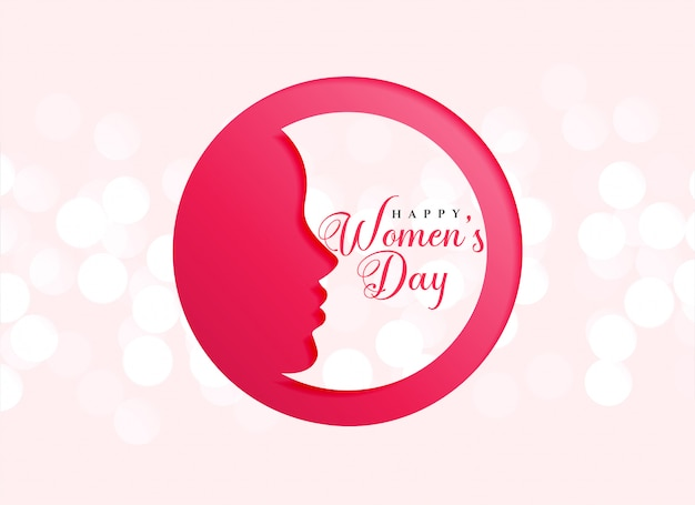Kreatywnie projekt szczęśliwy kobieta dnia świętowanie